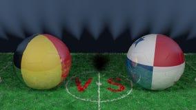 La Belgique contre la coupe du monde 2018 du Panama la FIFA Image 3D originale Photographie stock libre de droits