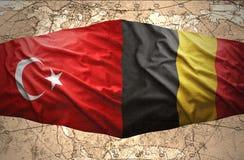 La Belgique et la Turquie Image stock