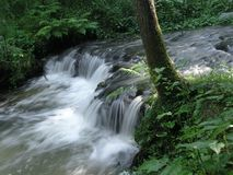 La bella cascata Immagine Stock Libera da Diritti