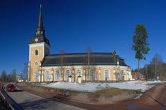 """La bella chiesa svedese nel """"di à lvdalen fotografia stock"""