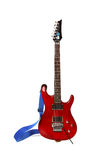 La bella chitarra elettrica ha isolato Immagine Stock