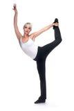 La bella donna balla le esercitazioni Immagini Stock