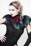 La bella donna con perfekt compone e capelli Immagine Stock