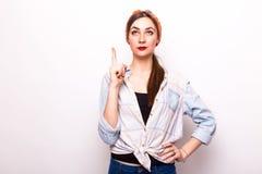 La bella donna ha l'idea Fotografie Stock Libere da Diritti
