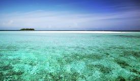 La bella isola dei Maldives Immagine Stock Libera da Diritti