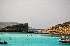La bella laguna blu a Malta fotografia stock libera da diritti