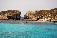 La bella laguna blu a Malta fotografie stock