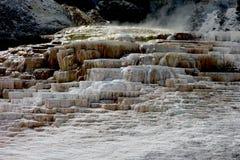 La bella Mammoth Hot Springs al parco di yellowstone Fotografie Stock Libere da Diritti