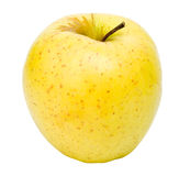 La bella mela su una priorità bassa bianca Fotografie Stock