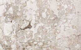 La bella parete sporca dello stucco da qualche parte ha cad da da un pozzo di chipp Fotografie Stock Libere da Diritti