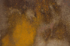 La bella pittura astratta ha creato da ruggine naturale su metallo Fotografia Stock