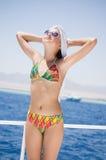 La bella ragazza al mare Fotografie Stock
