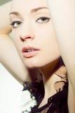 La bella ragazza con perfetto compone Immagine Stock Libera da Diritti