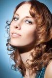 La bella ragazza con perfetto compone Fotografia Stock Libera da Diritti