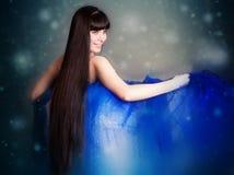 La bella ragazza dai capelli lunghi Fotografia Stock Libera da Diritti
