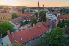 La bella regione del vino di Eger in Ungheria fotografia stock