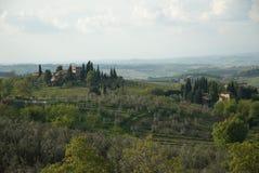La bella Toscana Fotografia Stock Libera da Diritti