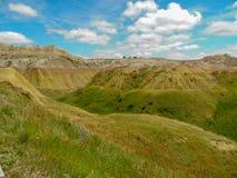 La bella valle nel parco nazionale dei calanchi immagine stock