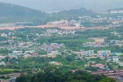 La bella vista da Khao-Khad osserva la torre, turisti può godere del Th Fotografia Stock Libera da Diritti