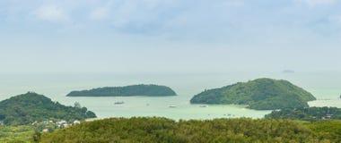 La bella vista da Khao-Khad osserva la torre, turisti può godere del Th Immagine Stock Libera da Diritti