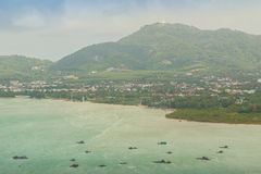 La bella vista da Khao-Khad osserva la torre, turisti può godere del Th Fotografia Stock