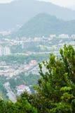 La bella vista da Khao-Khad osserva la torre, turisti può godere del Th Immagini Stock Libere da Diritti