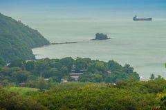 La bella vista da Khao-Khad osserva la torre, turisti può godere del Th Fotografie Stock Libere da Diritti
