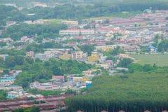 La bella vista da Khao-Khad osserva la torre, turisti può godere del Th Immagine Stock
