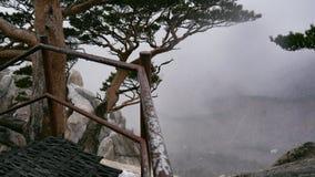 La bella vista dal picco di alte montagne Ulsanbawi Immagini Stock Libere da Diritti
