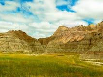 La bella vista dei calanchi in Sud Dakota fotografia stock