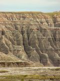 La bella vista del parco nazionale dei calanchi fotografia stock libera da diritti