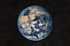 La bella vista della terra dagli elementi del ` dello spazio di questa immagine fornisce Immagini Stock Libere da Diritti