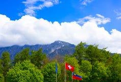 La bella vista delle alpi svizzere Fotografia Stock