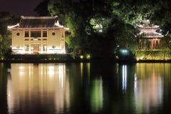 La bella vista di notte del lago ad ovest Fotografia Stock
