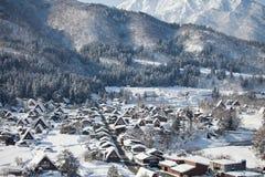 La bella vista di Shirakawa va villaggio Fotografie Stock Libere da Diritti