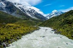 La bella vista ed il ghiacciaio in supporto cucinano National Park Immagini Stock