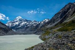 La bella vista ed il ghiacciaio in supporto cucinano National Park Immagine Stock Libera da Diritti