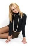 La belle blonde. Image libre de droits