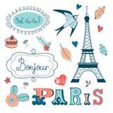 La belle collection de Paris a rapporté le graphique illustration de vecteur