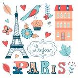 La belle collection de Paris a rapporté le graphique illustration libre de droits
