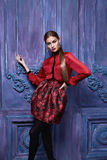 La belle collection sexy de femme vêtx le style de mode d'affaires image libre de droits