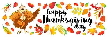 La belle, colorée bande dessinée de l'oiseau de dinde pour la célébration heureuse de thanksgiving, peut être utilisation comme i Photos libres de droits