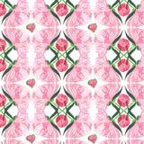 La belle composition florale de fines herbes graphique abstraite tendre de l'les pivoines roses avec le vert part du modèle Photo libre de droits