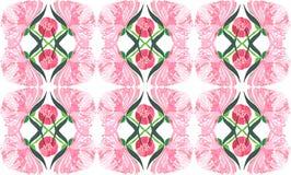La belle composition florale de fines herbes graphique abstraite tendre sophistiquée de l'les pivoines roses avec le vert part du Photo libre de droits