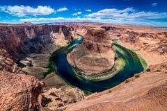 La belle courbure en fer à cheval en Arizona photos stock