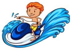 la belle eau de sport de personne de saut Image libre de droits