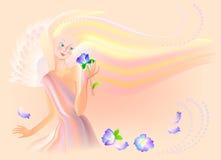 La belle fée sent la fleur Photos libres de droits