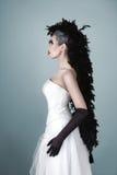 La belle femme de mode avec l'art créatif composent Image stock