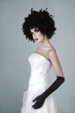 La belle femme de mode avec l'art créatif composent Photographie stock libre de droits