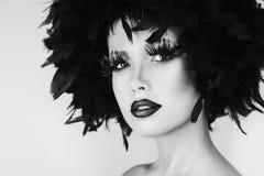 La belle femme de mode avec l'art créatif composent Images libres de droits